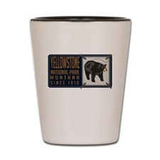 Yellowstone Black Bear Badge Shot Glass