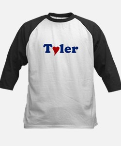 Tyler with Heart Kids Baseball Jersey