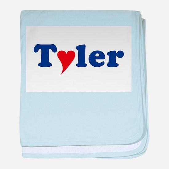 Tyler with Heart baby blanket
