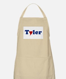 Tyler with Heart Apron