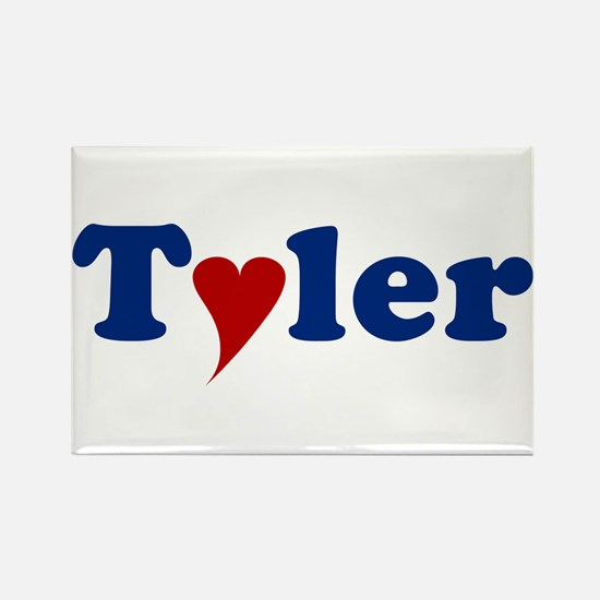 Tyler with Heart Rectangle Magnet