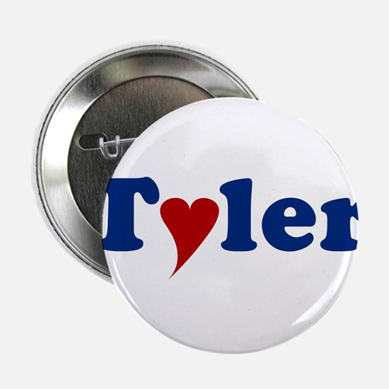 """Tyler with Heart 2.25"""" Button"""