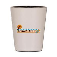 Assateague Island MD - Beach Design. Shot Glass