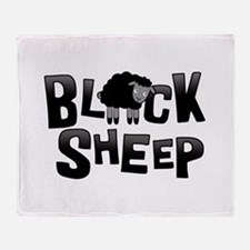 Black Sheep Dark Throw Blanket