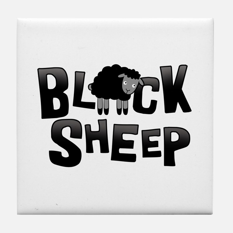 Black Sheep Dark Tile Coaster