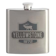 Yellowstone Nature Badge Flask