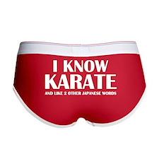 I Know Karate Women's Boy Brief