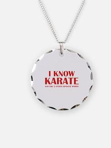 I Know Karate Necklace