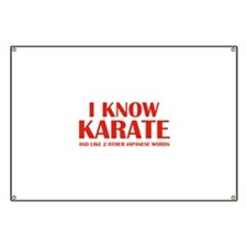 I Know Karate Banner