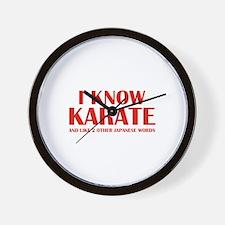 I Know Karate Wall Clock