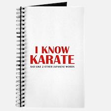 I Know Karate Journal