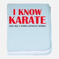 I Know Karate baby blanket