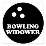 FIN-bowling widower.png Square Car Magnet 3