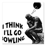 FIN-think-bowling.png Square Car Magnet 3