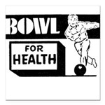 FIN-bowl for health.png Square Car Magnet 3