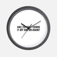 Off and On Wall Clock