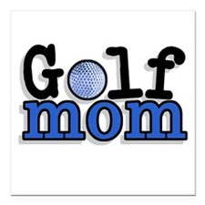 "Golf Mom Square Car Magnet 3"" x 3"""