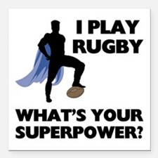 "FIN-rugby-superpower.png Square Car Magnet 3"" x 3"""