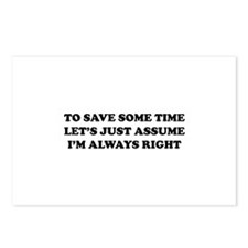 I'm Always Right Postcards (Package of 8)