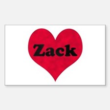 Zack Leather Heart Rectangle Decal