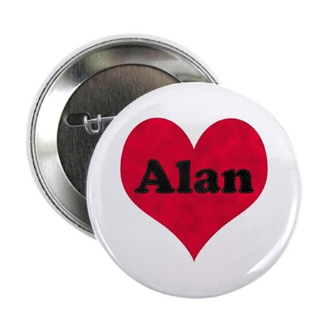 Alan Leather Heart Button