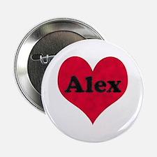 Alex Leather Heart Button
