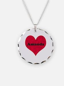 Amanda Leather Heart Necklace