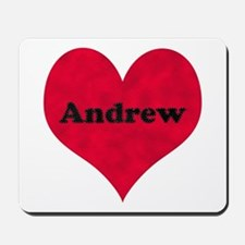 Andrew Leather Heart Mousepad