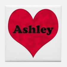 Ashley Leather Heart Tile Coaster