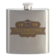Yellowstone National Park Crest Flask