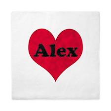 Alex Leather Heart Queen Duvet
