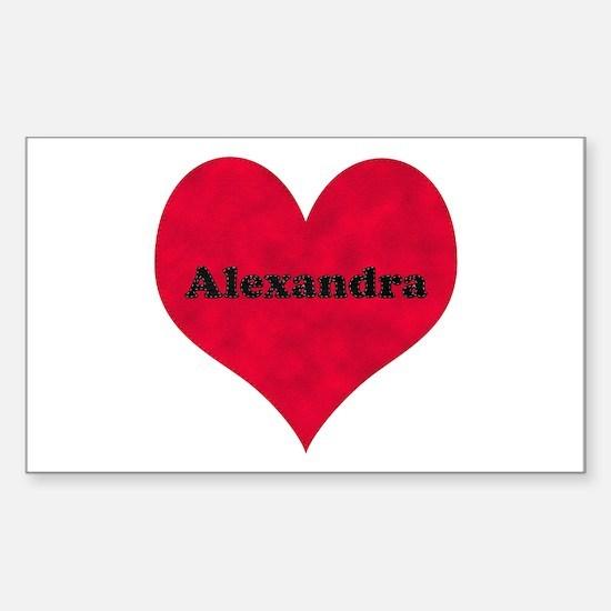 Alexandra Leather Heart Rectangle Decal