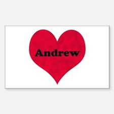 Andrew Leather Heart Rectangle Decal