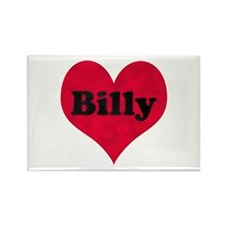 Billy Leather Heart Rectangle Magnet
