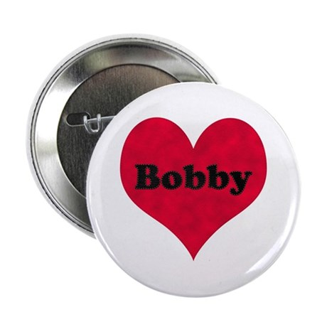Bobby Leather Heart Button