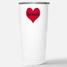 Brandi Leather Heart Travel Mug
