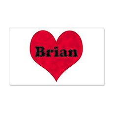 Brian Leather Heart 22x14 Wall Peel