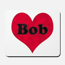 Bob Leather Heart Mousepad