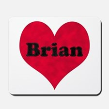 Brian Leather Heart Mousepad