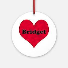 Bridget Leather Heart Round Ornament