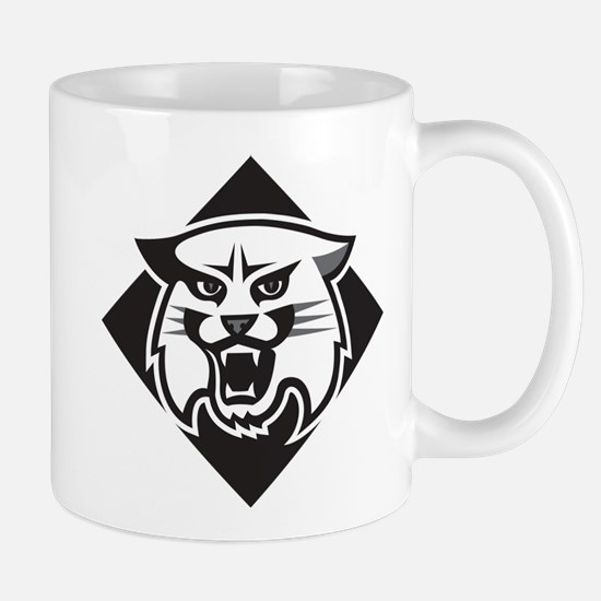 Davidson Wildcat Mascot Head Bla Small Mug