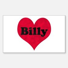 Billy Leather Heart Rectangle Decal