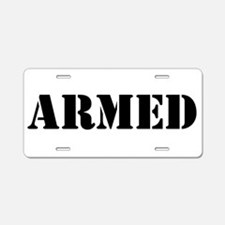Armed Aluminum License Plate