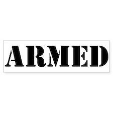 Armed Bumper Sticker