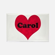Carol Leather Heart Rectangle Magnet