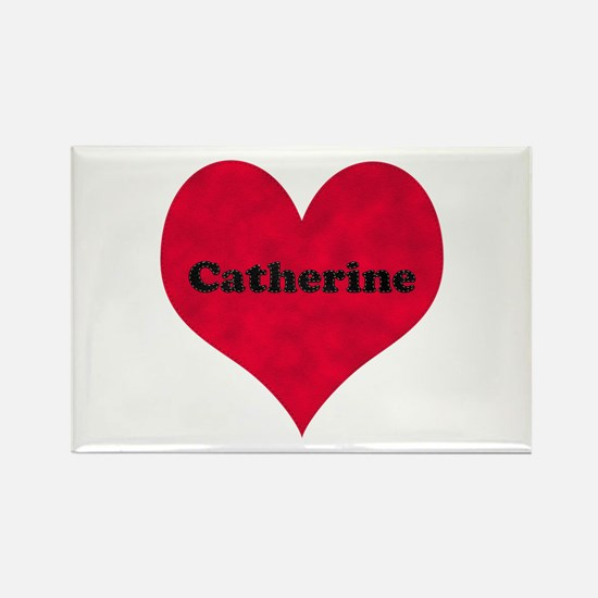 Catherine Leather Heart Rectangle Magnet