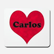 Carlos Leather Heart Mousepad