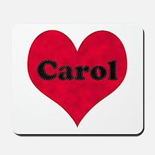 Carol Leather Heart Mousepad