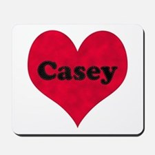Casey Leather Heart Mousepad