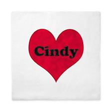 Cindy Leather Heart Queen Duvet